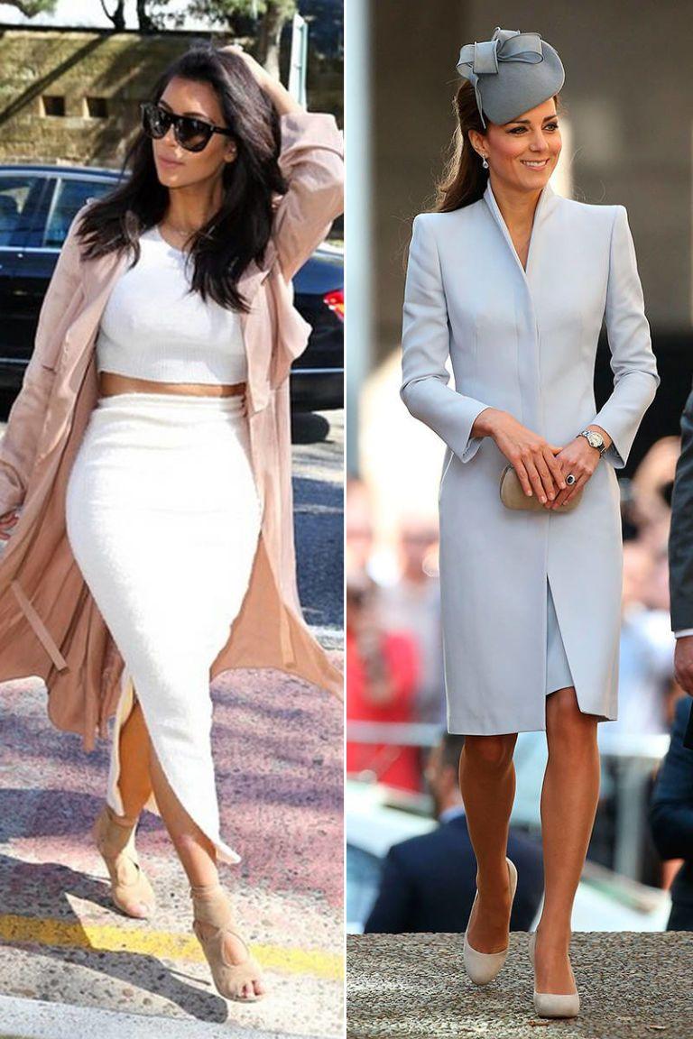 Kim Kardashian and Kate Middleton style