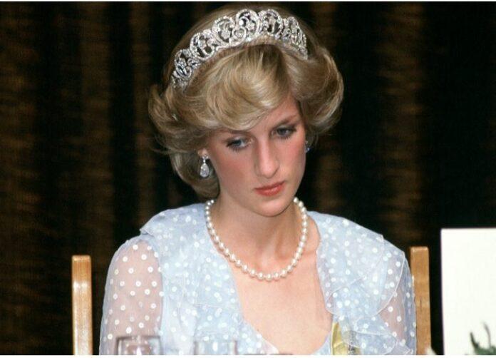 Princess Diana sad