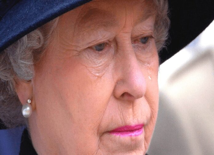 Queen Elizabeth cry