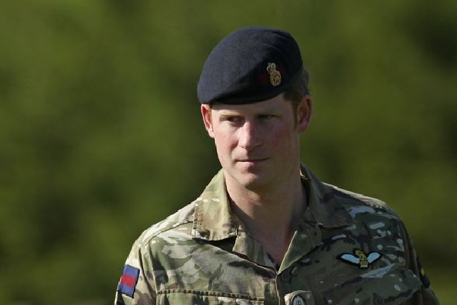 Prince Harry in the army