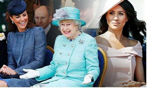 Kate Middleton and Meghan Markle, The Queen