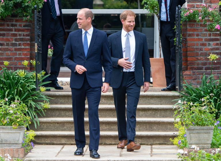 Prince William and Prince Harry reunite and smile